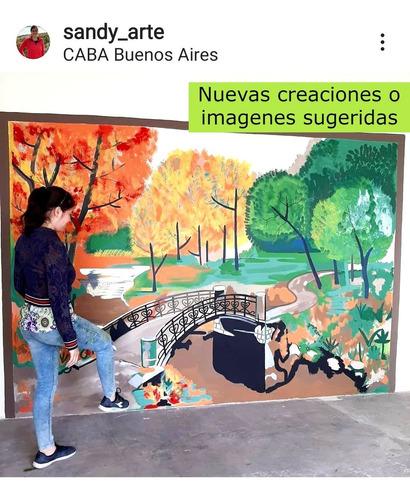murales muralista grafiti pintor decorador mural vinilo arte