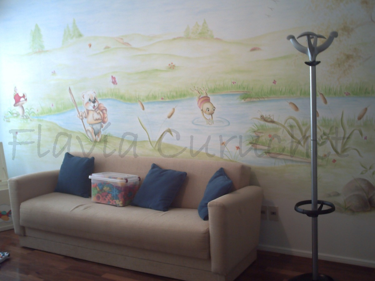 Murales sobre pared pintados por artista y artesan as for Precio de murales pared