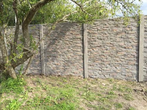 muralis cerco premoldeado hormigon pared muro piedra serrana