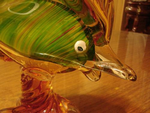 murano cristal adorno pez