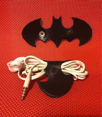 murciélago organizador de cables 100% piel