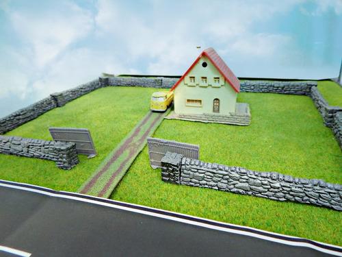 muro de pedras p/ maquete frateschi ho 1/87 hbm124