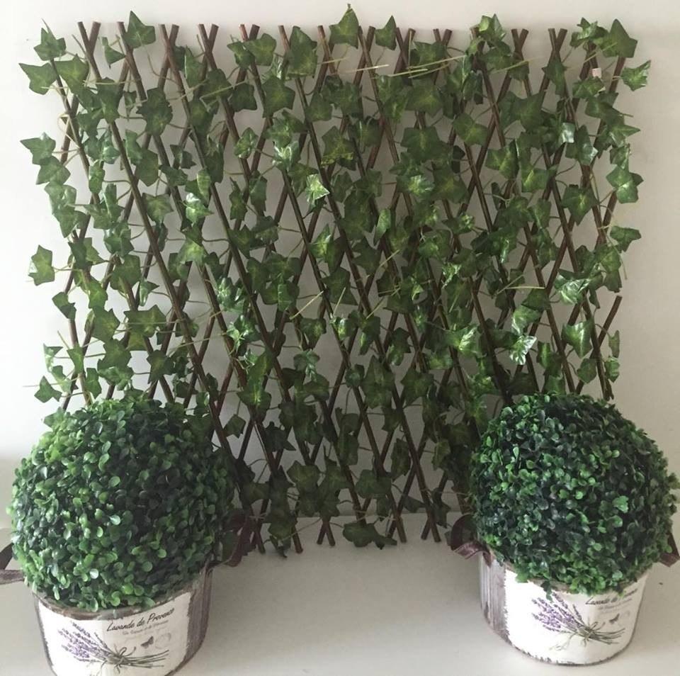 jardim vertical em muro:Muro Inglês Jardim Vertical Painel Artificial Folhagem 68636 – R$ 98