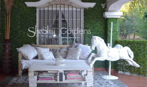 muro panel cesped artificial //jardin vertical / nª1/sheshu