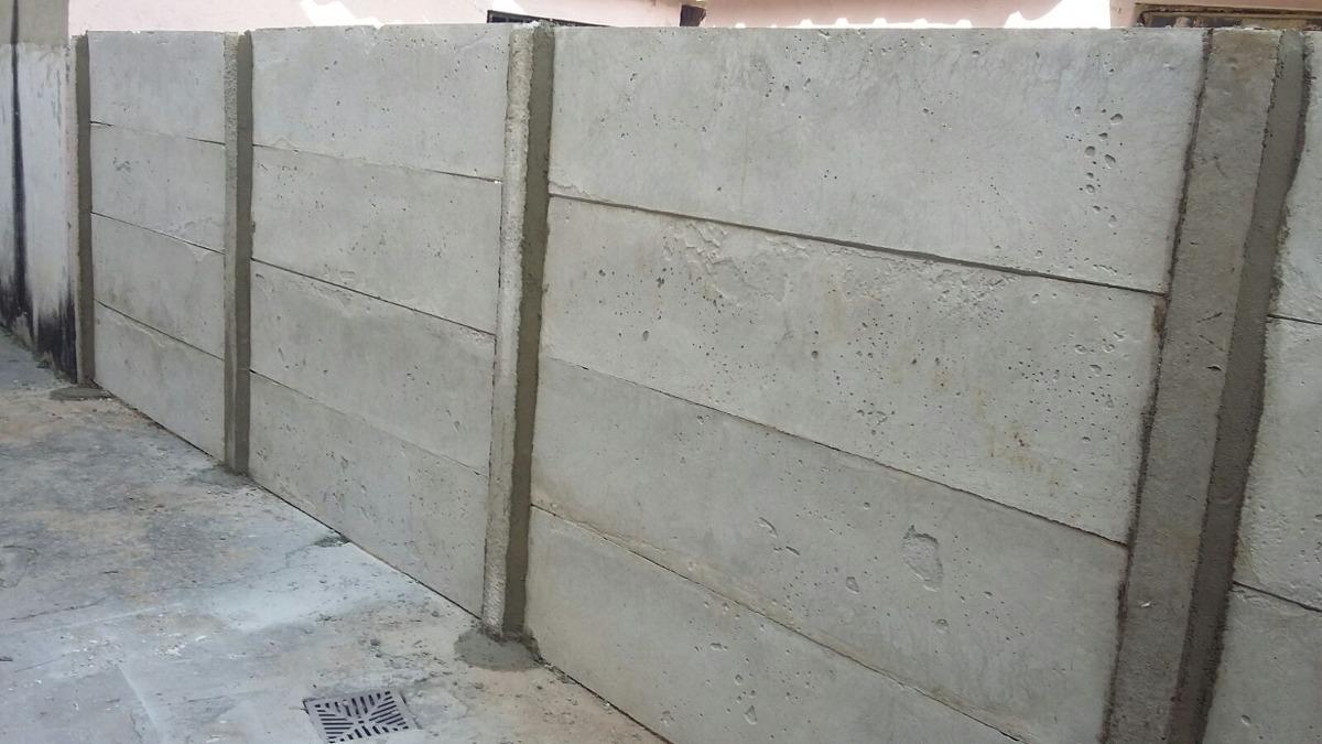 Muro pre moldado mour o de concreto chap u de muro r 50 00 em mercado livre - Muros de hormigon ...