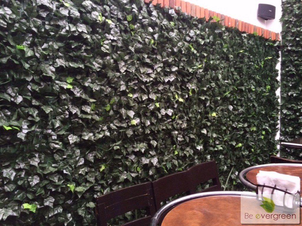 Muro verde enredadera artificial para malla sp0 for Plantas trepadoras para muros