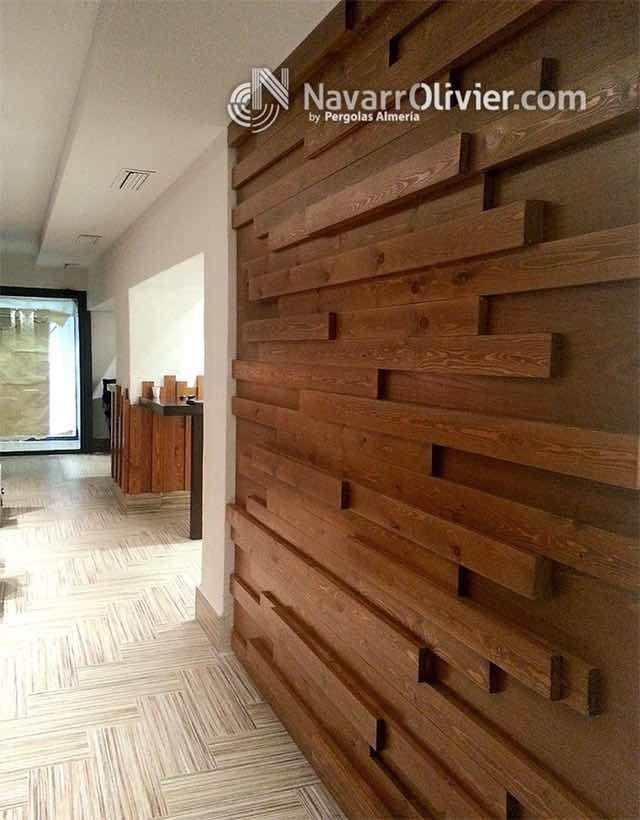 Muros de madera de parota natural y madera fina de pino - Decoracion natural interiores ...