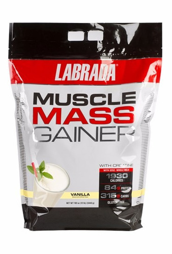 muscle mass gainer labrada 12lb ganador peso activationperu