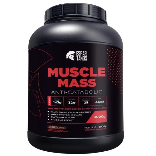 muscle mass hipercalórico 3kg - espartanos nutrition
