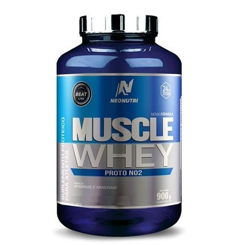 muscle whey proto no2 - 900g - neonutri - chocolate de avela