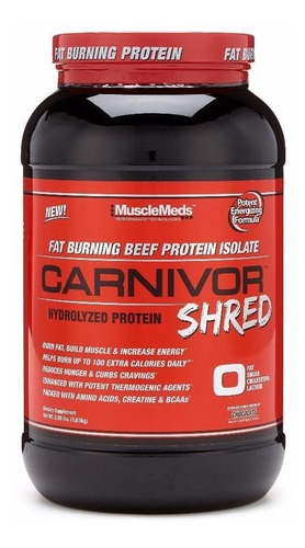 musclemeds carnivor shred 2 lbs chocolate