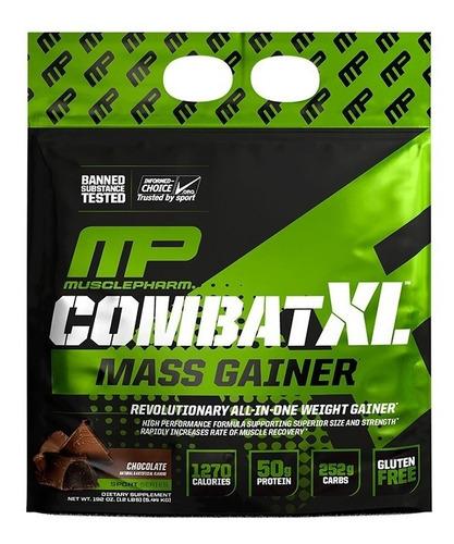 musclepharm combat xl mass gainer ganador de masa 12 lb