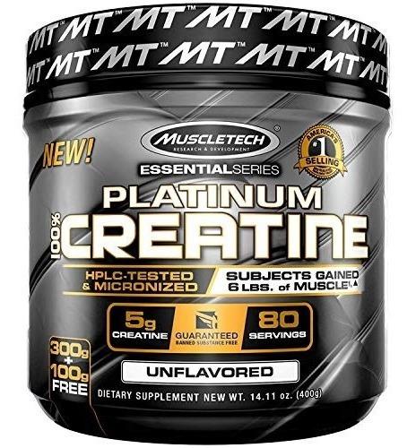 muscletech platinum 100% creatine ultrapure micronized creat