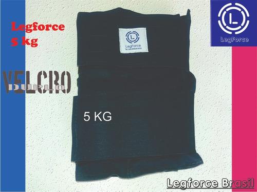 musculação tornozeleira 5 kg reforçada (par) legforce azul