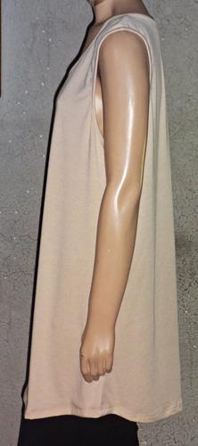 musculosa basica bretel ancho amplia talle grandes muy larga