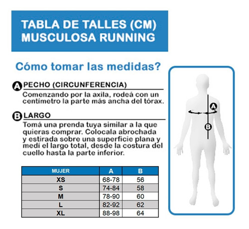 musculosa black rock - mujer - running - trail running