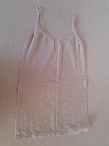 musculosa blanca de algodon y lycra talle m