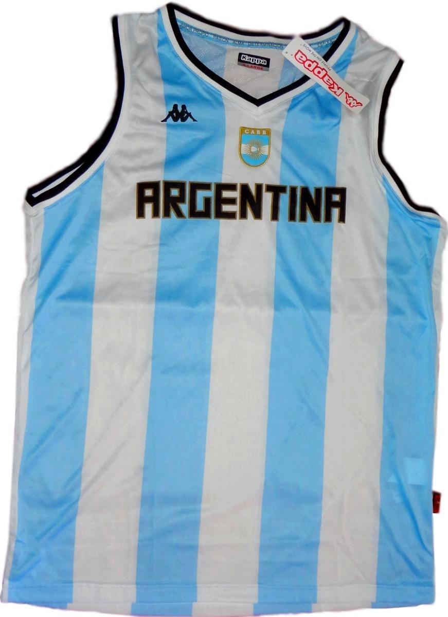 7519caac60859 Musculosa Camiseta De Seleccion Argentina De Basquet Kappa -   699 ...