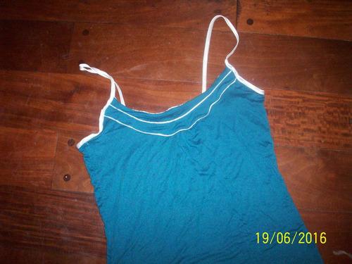 musculosa de vestir  azul con tiras