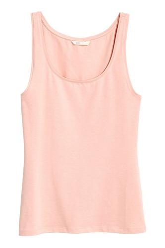 musculosa  h&m jersey suave solo en rosa talle l hym remera