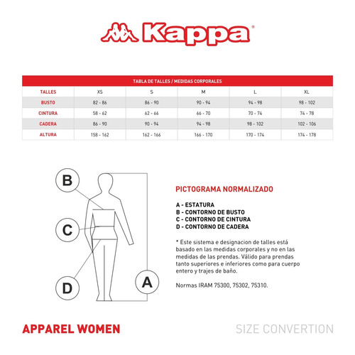 musculosa kappa 4training fancy mujeres