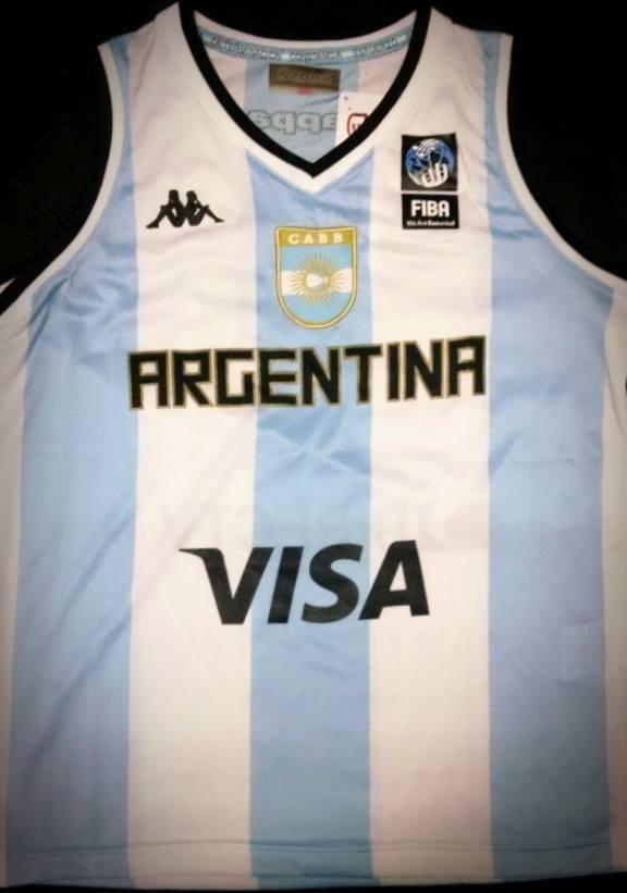 af9948d082f22 musculosa mundial seleccion argentina de basquet niño kappa. Cargando zoom.