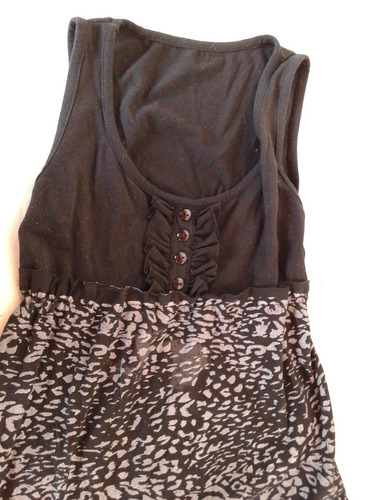 musculosa negra y gris talle m
