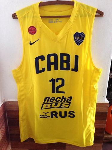 musculosa nueva amarilla basquet boca juniors jugador n 12