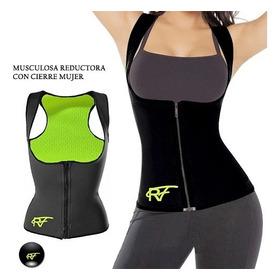 Musculosa Reductora Con Cierre Mujer