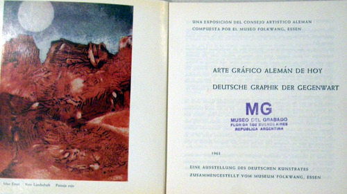 museo folkwang arte grafico alemán de hoy bilingüe no envio