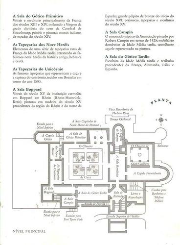 museu the cloisters new york folder com todos os detalhes.