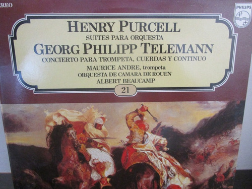 musica clasica  lp henry purcell georg philipp telemann