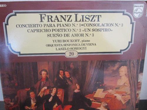 musica clasica  lp vinilo franz liszt concierto