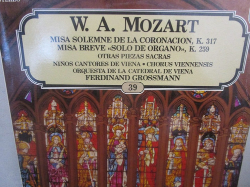 musica clasica  lp vinilo wolfgang amadeus mozart misa