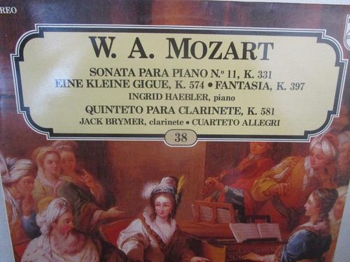 musica clasica  lp vinilo wolfgang amadeus mozart sonata