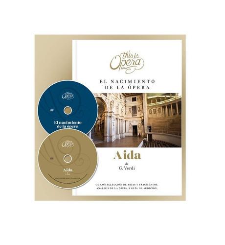 musica clasica opera aida de g. verdi libro + cd + dvd nuevo