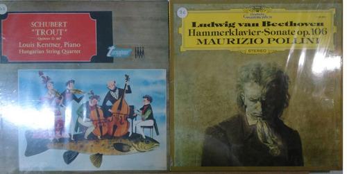 musica classica lote com 2 lps  schubert/beethoven