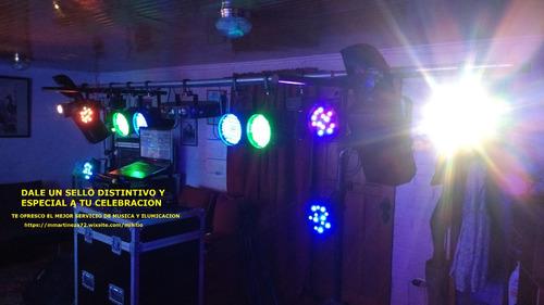 musica e iluminacion (servicio desde los $60.000)