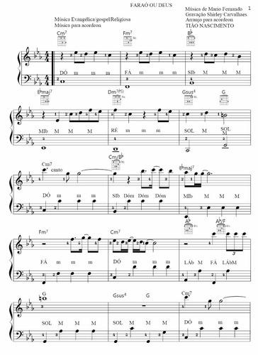 música faraó ou deus p/ acordeon