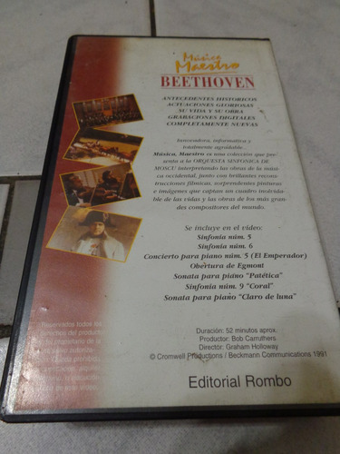 musica maestro beethoven cd + video