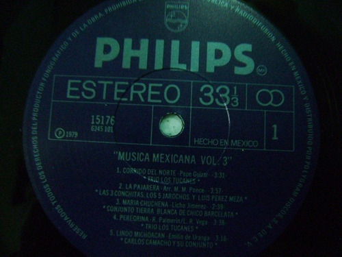 música mexicana / vol. 3  1 disco lp vinilo