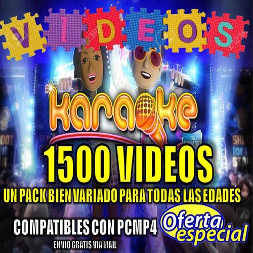 musica pack 1500 videos karaoke fiestas cumpleaños eventos