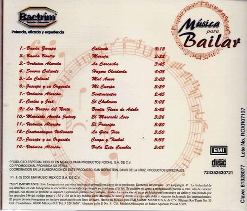 música para bailar - 14 temas - banda - cumbia - 1 cd