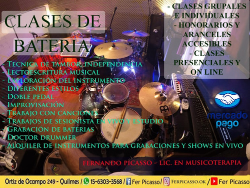 música servicio clases