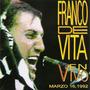 Franco De Vita. En Vivo Marzo 16. Cd Original, Nuevo