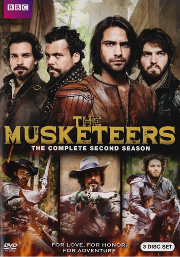musketeers segunda temporada 2 dos importada dvd