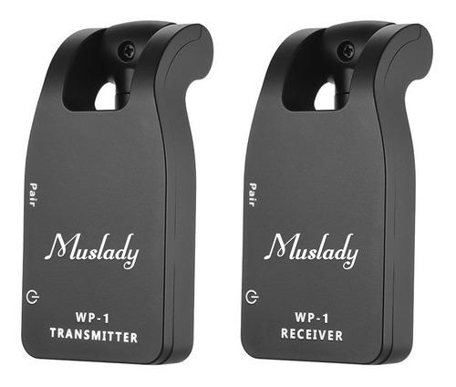 muslady 2.4g sem fio guitarra sistema transmissor & recebedo