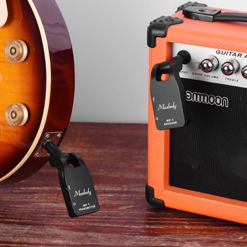 muslady 2.4g sistema de guitarra inalmbrico transmisor y