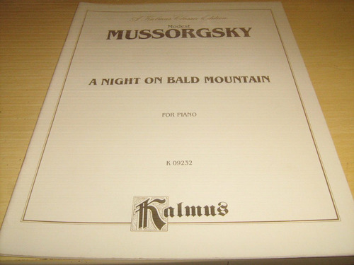 mussorgsky - a night on bald mountain - for piano