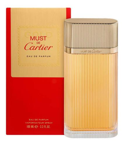 must de cartier gold perfume feminino edp 100ml - blz